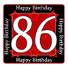 86TH BIRTHDAY COASTER PARTY SUPPLIES