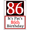 PERSONALIZED 86 YEAR OLD YARD SIGN PARTY SUPPLIES