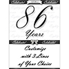 86 YEARS CLASSY BLACK DOOR BANNER PARTY SUPPLIES