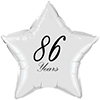 86 YEARS CLASSY BLACK STAR BALLOON PARTY SUPPLIES
