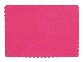 Click for larger picture of HOT PINK PLACEMAT PARTY SUPPLIES