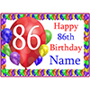 86TH BALLOON BLAST CUSTOMIZED PLACEMAT PARTY SUPPLIES