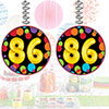 86TH BIRTHDAY BALLOON DANGLER PARTY SUPPLIES