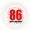 86TH BIRTHDAY DESSERT PLATE 8-PKG PARTY SUPPLIES