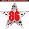 86TH SILVER STAR DECORATION PARTY SUPPLIES