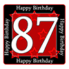87TH BIRTHDAY COASTER PARTY SUPPLIES