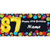 BALLOON 87TH BIRTHDAY CUSTOMIZED BANNER PARTY SUPPLIES