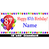 87TH BIRTHDAY BALLOON BLAST NAME BANNER PARTY SUPPLIES