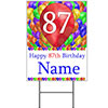 87TH CUSTOMIZED BALLOON BLAST YARD SIGN PARTY SUPPLIES