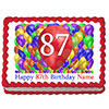 87TH BIRTHDAY BALLOON BLAST EDIBLE IMAGE PARTY SUPPLIES