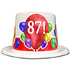 87TH BIRTHDAY BALLOON BLAST TOP HAT PARTY SUPPLIES