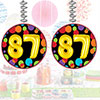 87TH BIRTHDAY BALLOON DANGLER PARTY SUPPLIES