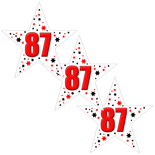 87TH BIRTHDAY STAR DECO FETTI PARTY SUPPLIES