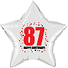 87TH BIRTHDAY STAR BALLOON PARTY SUPPLIES