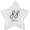 88 YEARS CLASSY BLACK STAR BALLOON PARTY SUPPLIES