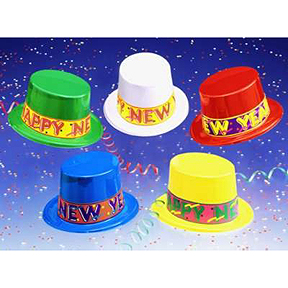 Click for larger picture of COLORAMA TOP HATS PARTY SUPPLIES
