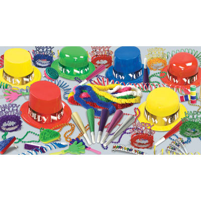 Click for larger picture of SHOWTIME ASSORTMENT FOR 50 PARTY SUPPLIES