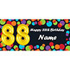 BALLOON 88TH BIRTHDAY CUSTOMIZED BANNER PARTY SUPPLIES