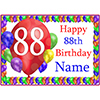88TH BALLOON BLAST CUSTOMIZED PLACEMAT PARTY SUPPLIES