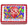 88TH BIRTHDAY BALLOON BLAST EDIBLE IMAGE PARTY SUPPLIES
