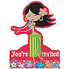 DISCONTINUED LET'S HULA! INVITATION PARTY SUPPLIES