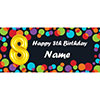 BALLOON 8TH BIRTHDAY CUSTOMIZED BANNER PARTY SUPPLIES