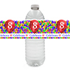 8TH BALLOON BLAST WATER BOTTLE LABEL PARTY SUPPLIES