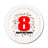8TH BIRTHDAY DESSERT PLATE 8-PKG PARTY SUPPLIES