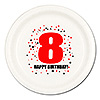 8TH BIRTHDAY DINNER PLATE 8-PKG PARTY SUPPLIES