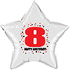 8TH BIRTHDAY STAR BALLOON PARTY SUPPLIES
