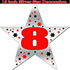 8TH SILVER STAR DECORATION PARTY SUPPLIES