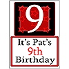 PERSONALIZED 9 YEAR OLD YARD SIGN PARTY SUPPLIES