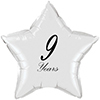 9 YEARS CLASSY BLACK STAR BALLOON PARTY SUPPLIES