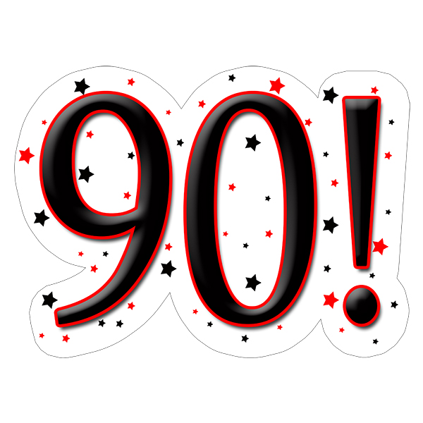 90! DECORATION (15X22 IN.) PARTY SUPPLIES