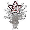 90! SILVER STAR CENTERPIECE PARTY SUPPLIES