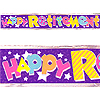 HAPPY RETIREMENT BANNER PARTY SUPPLIES