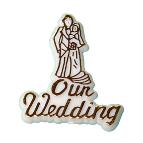 Click for larger picture of OUR WEDDING PLAQUE PARTY SUPPLIES