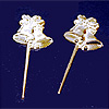 GOLD TWIN BELLS 3 INCH PICKS PARTY SUPPLIES