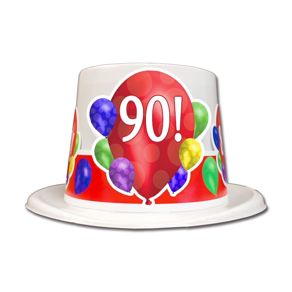 Click For Larger Picture Of 90TH BIRTHDAY BALLOON BLAST TOP HAT PARTY SUPPLIES