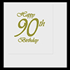 90TH CLASSY GOLD BIRTHDAY LUNCHEON NAP PARTY SUPPLIES
