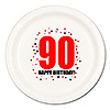 90TH BIRTHDAY DINNER PLATE 8-PKG PARTY SUPPLIES