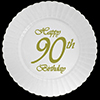 90TH CLASSY BIRTHDAY PLASTIC DESSERT PLA PARTY SUPPLIES