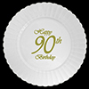 90TH CLASSY BIRTHDAY PLASTIC DINNER PLAT PARTY SUPPLIES
