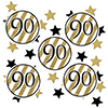 90TH BLACK AND GOLD DECO FETTI PARTY SUPPLIES