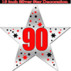 90TH SILVER STAR DECORATION PARTY SUPPLIES