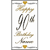 PERSONALIZED 90TH GOLD DOOR BANNER PARTY SUPPLIES