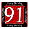 91ST BIRTHDAY COASTER PARTY SUPPLIES