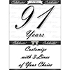 91 YEARS CLASSY BLACK DOOR BANNER PARTY SUPPLIES