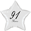 91 YEARS CLASSY BLACK STAR BALLOON PARTY SUPPLIES
