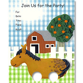 Click for larger picture of DISCONTINUED FARM INVITATION PARTY SUPPLIES